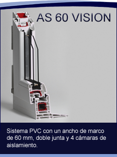 AS 60 VISION - Ventana de PVC Abatible
